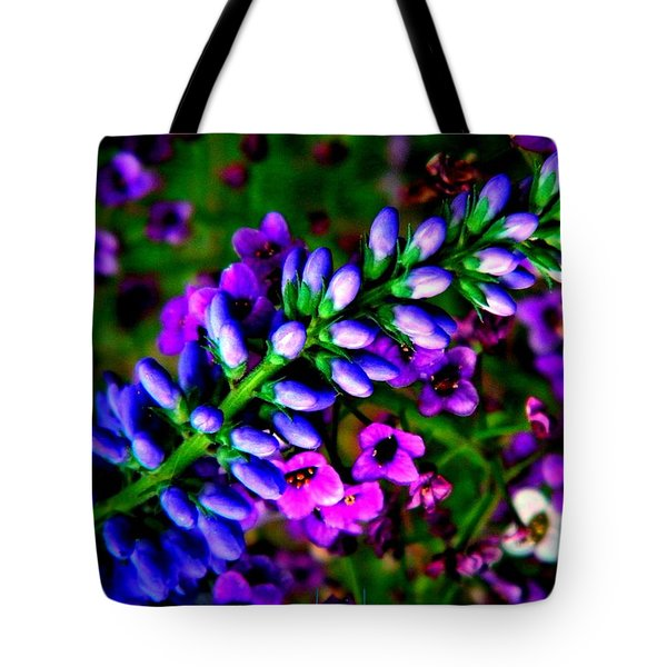 Blue Veronica Tote Bag