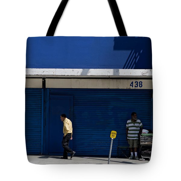 Tote Bag featuring the photograph Blue Wall At 438 by Lorraine Devon Wilke