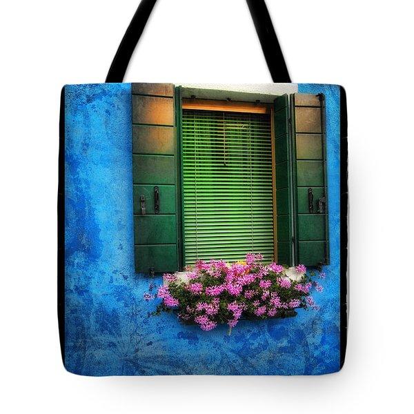 Blue Wall Tote Bag by Mauro Celotti