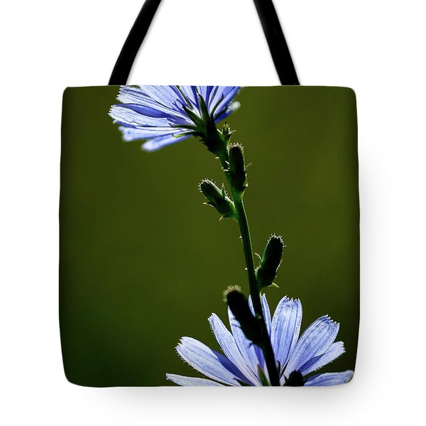 Blue Wildflower Tote Bag