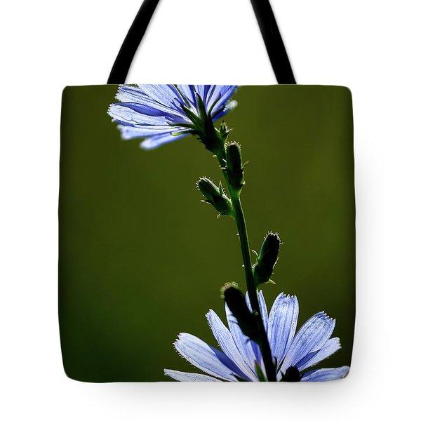 Blue Wildflower Tote Bag by  Onyonet  Photo Studios