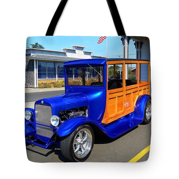 Blue Woody Tote Bag by Pamela Patch