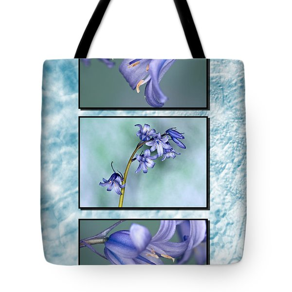 Tote Bag featuring the photograph Bluebell Triptych by Steve Purnell