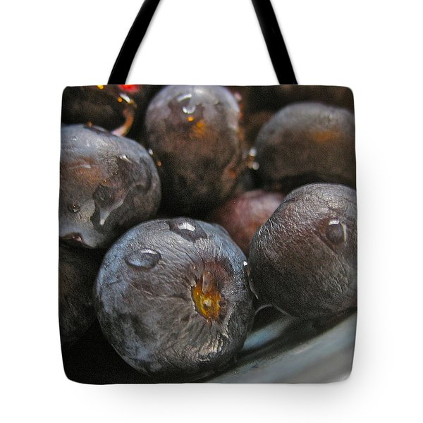 Tote Bag featuring the photograph Blueberries  by Bill Owen