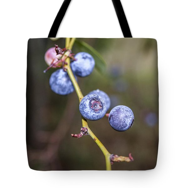 Tote Bag featuring the photograph Blueberry by Ester  Rogers