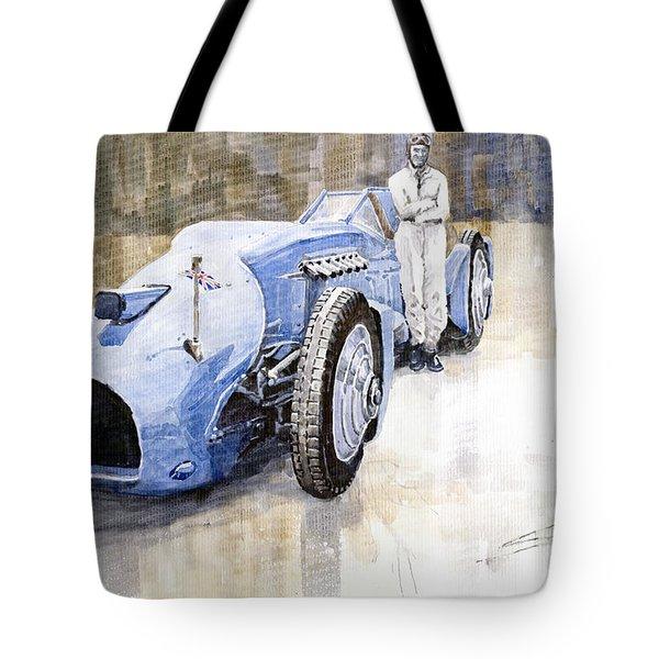 Bluebird 1933 Daytona Malkolm Campbell Tote Bag