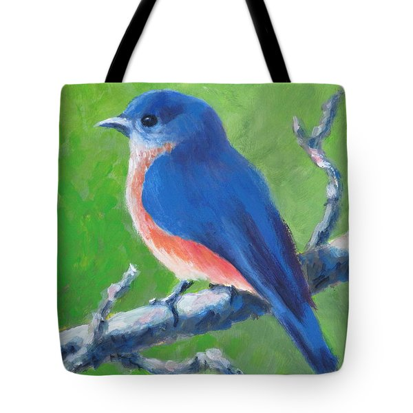 Bluebird In Spring Tote Bag
