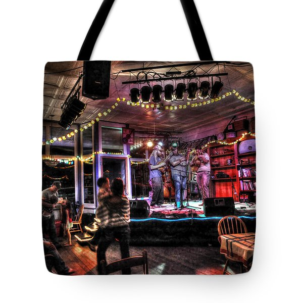Bluegrass Band Playing Tote Bag by Dan Friend