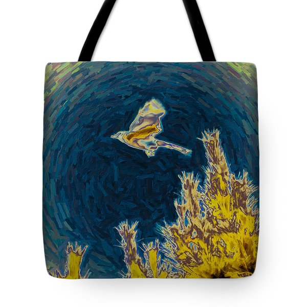 Bluejay Gone Wild Tote Bag by Trish Tritz