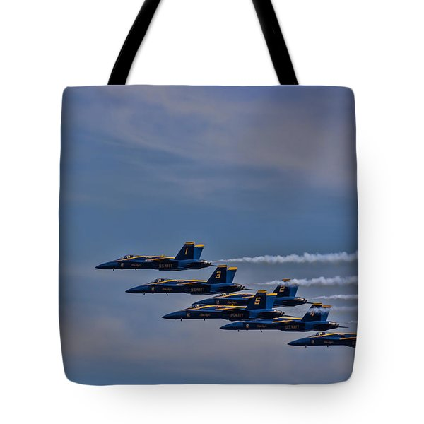 Tote Bag featuring the photograph Blues by David Gleeson