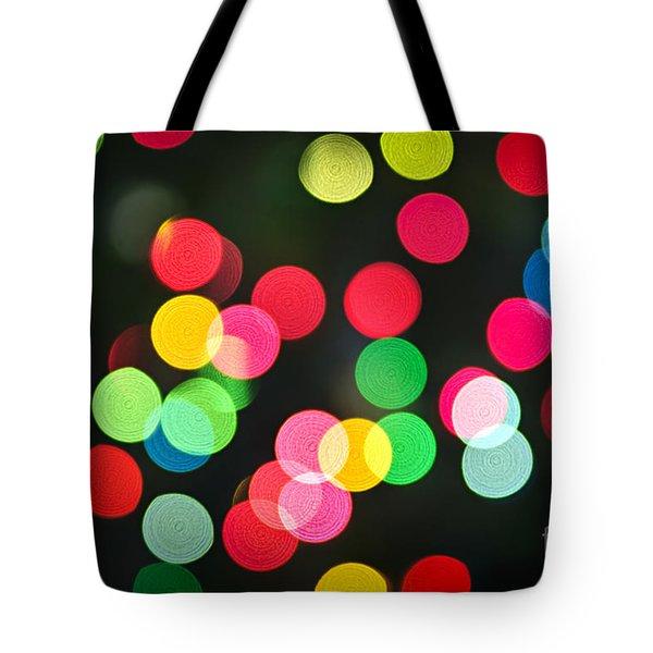 Blurred Christmas Lights Tote Bag by Elena Elisseeva