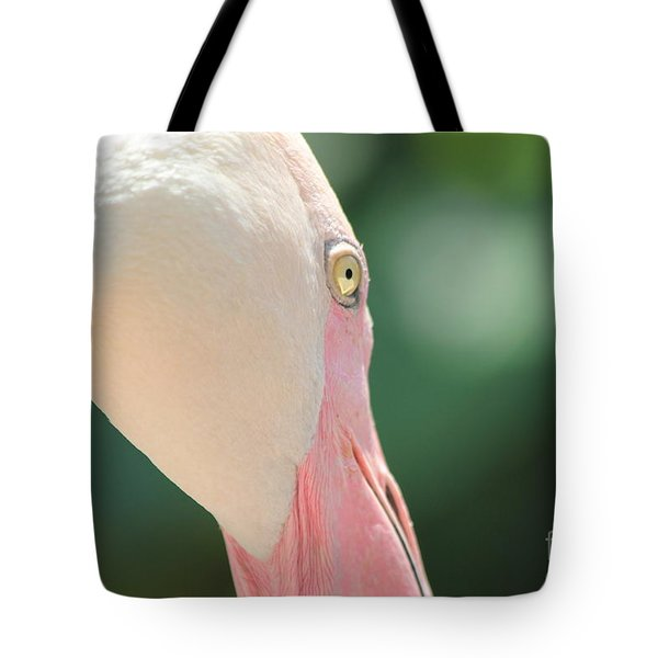Tote Bag featuring the photograph Blushing Flamingo by Nola Lee Kelsey