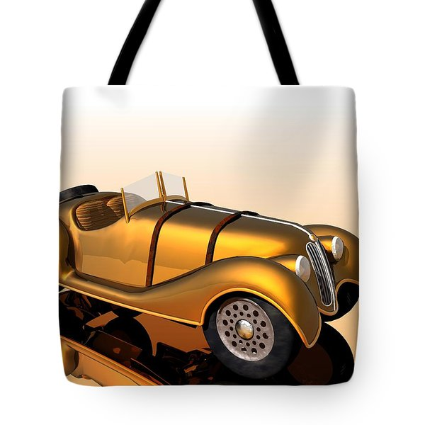 Tote Bag featuring the digital art Bmw Roadster by John Pangia