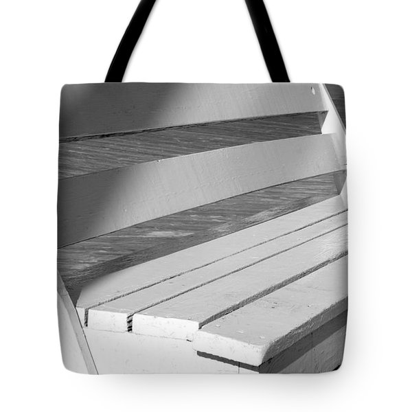 Boardwalk Bench Tote Bag by Theresa Johnson