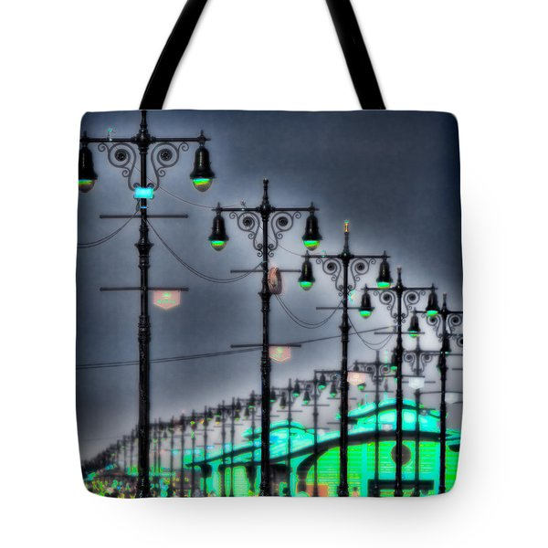 Tote Bag featuring the photograph Boardwalk Lights by Chris Lord