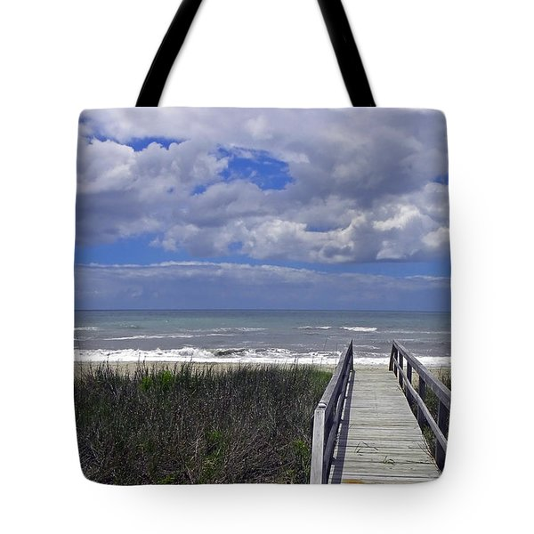 Boardwalk To The Beach Tote Bag by Sandi OReilly