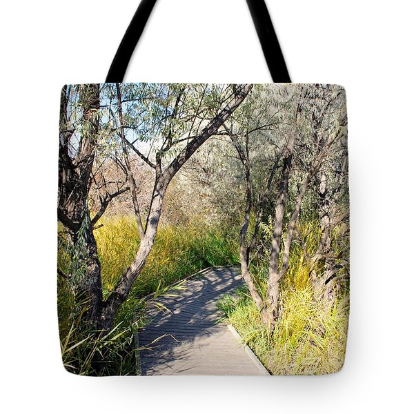 Boardwalk To The Birds Tote Bag by John  Greaves