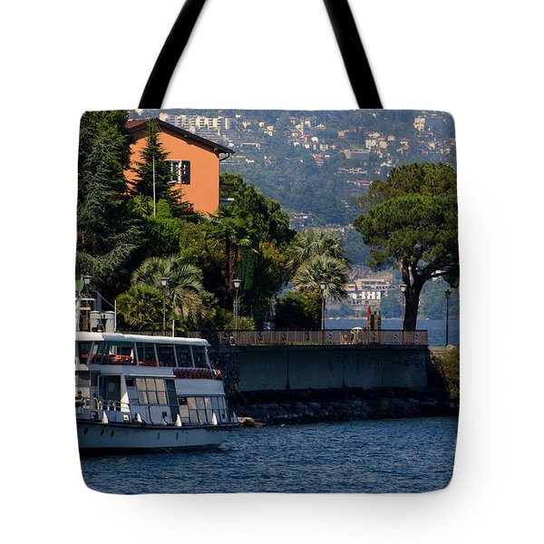 Boat And Tree Tote Bag