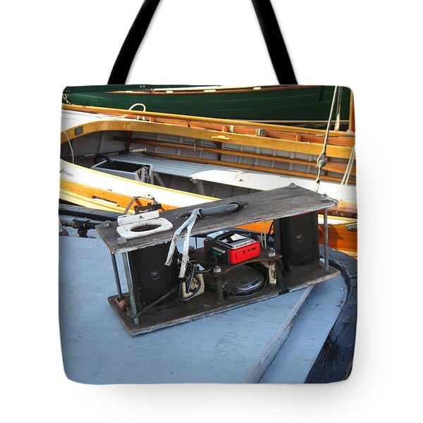 Boat Builders Music Box Tote Bag by Kym Backland