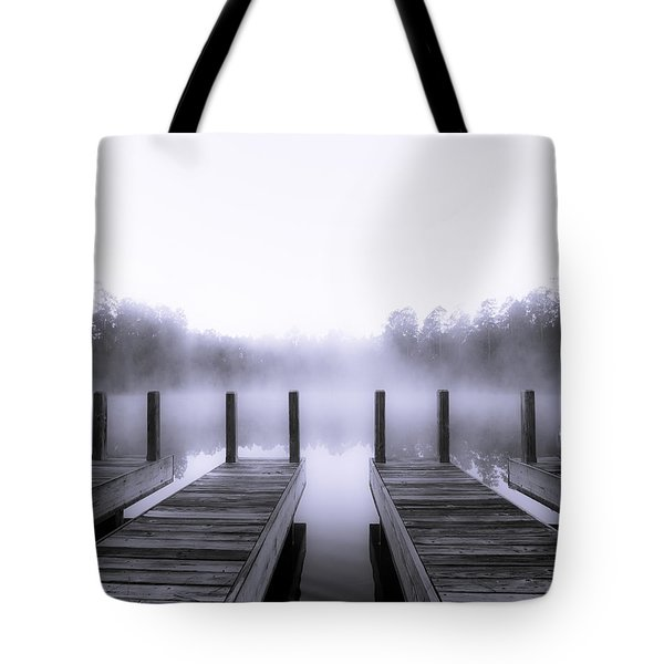Boat House Tote Bag by Mary Sparrow