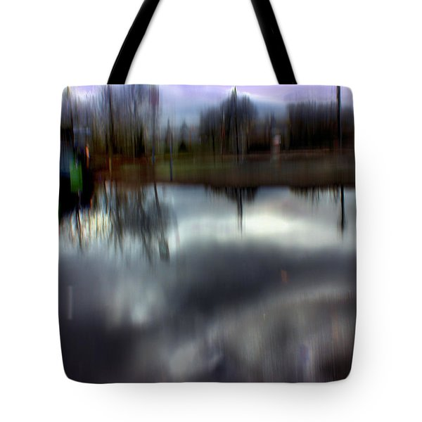 Tote Bag featuring the mixed media Boat House I by Terence Morrissey