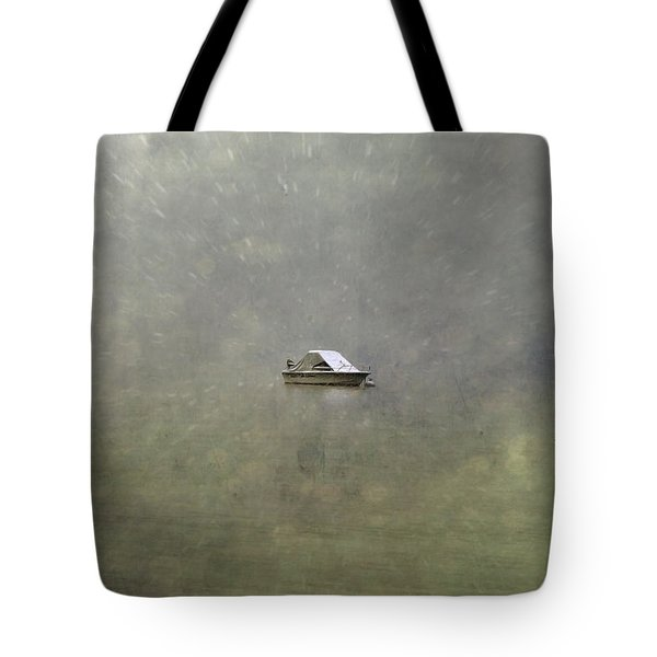 Boat In The Snow Tote Bag by Joana Kruse