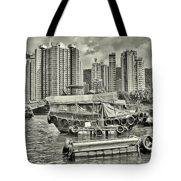 Boat Life In Hong Kong Tote Bag