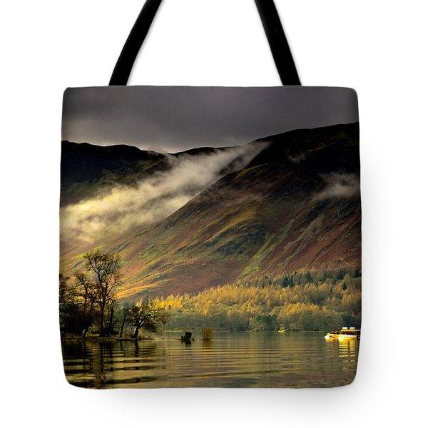 Boat On Lake Derwent, Cumbria, England Tote Bag by John Short
