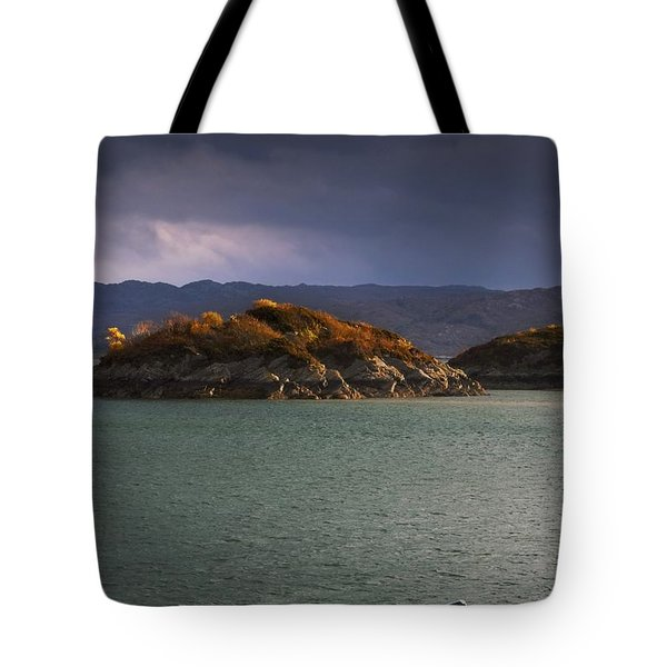 Tote Bag featuring the photograph Boat On Loch Sunart, Scotland by John Short