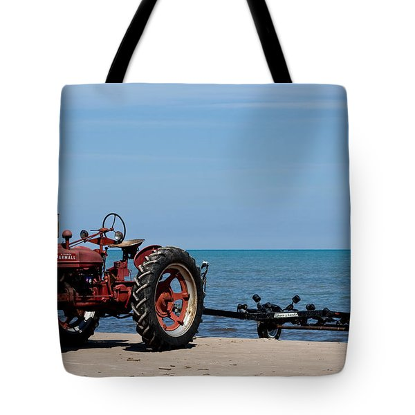 Tote Bag featuring the photograph Boat Trailer by Barbara McMahon