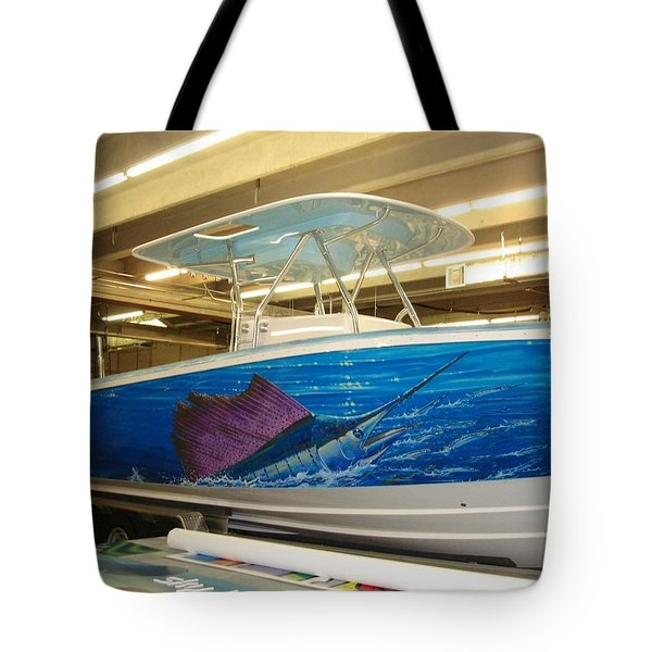 Boat Wrap Tote Bag by Carey Chen