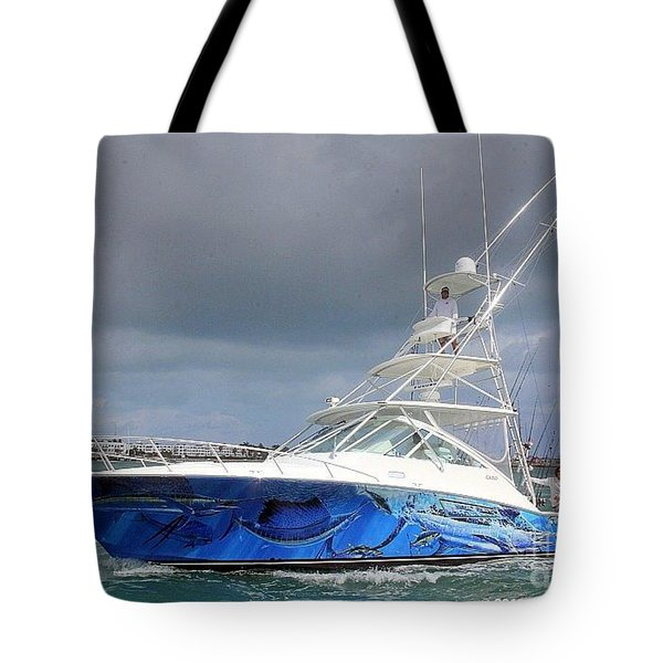 Boat Wrap On Cabo Tote Bag by Carey Chen