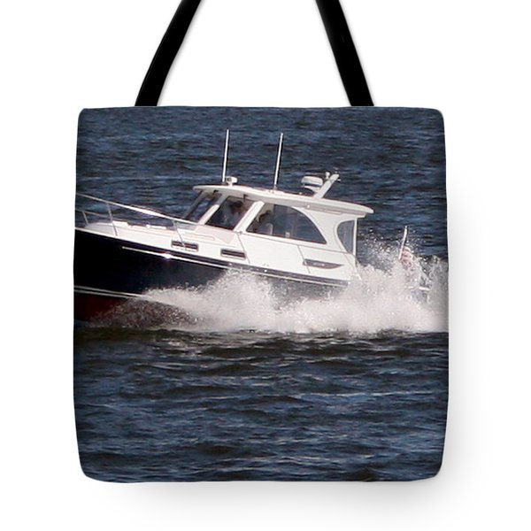 Boating On The Bay Tote Bag