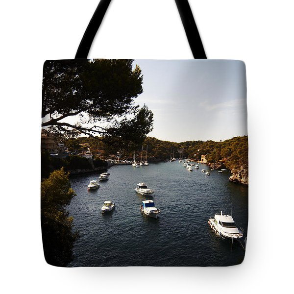 Boats In Cala Figuera Tote Bag
