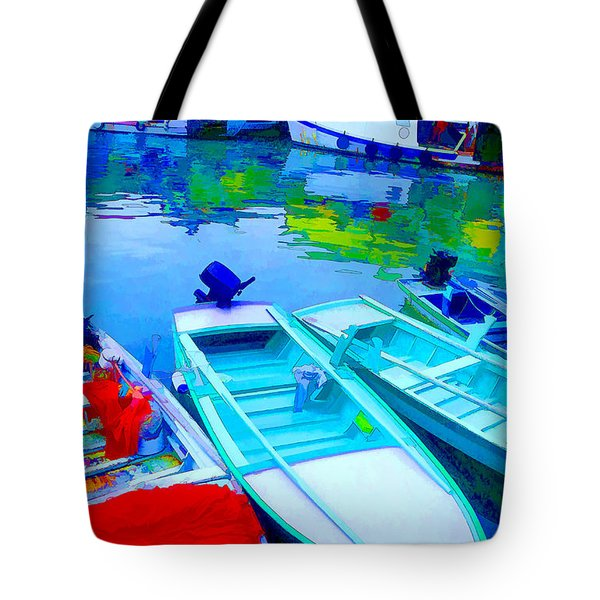 Boats Tote Bag by Mauro Celotti