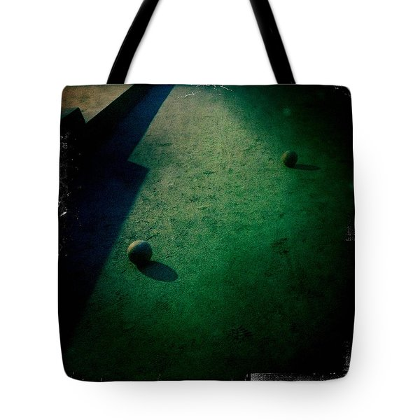 Bocce Ball Court Tote Bag by Suzanne Lorenz