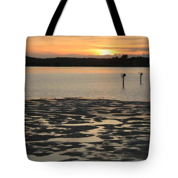 Bodega Bay Sunset Tote Bag by Suzanne Lorenz