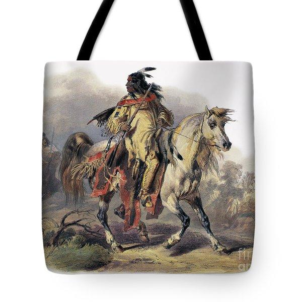 Bodmer: Blackfoot Horseman Tote Bag by Granger