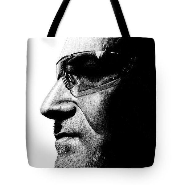 Bono - Half The Man Tote Bag by Kayleigh Semeniuk