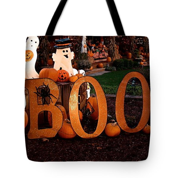 BOO Tote Bag by Nick Kloepping
