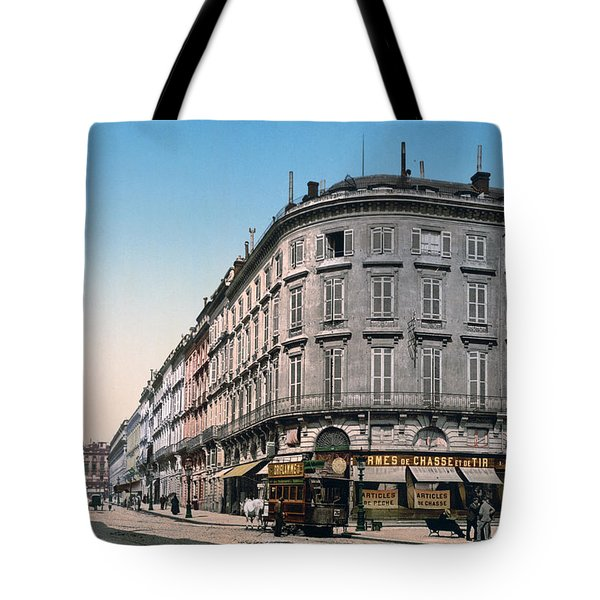 Bordeaux - France - Rue Chapeau Rouge From The Palace Richelieu Tote Bag by International  Images