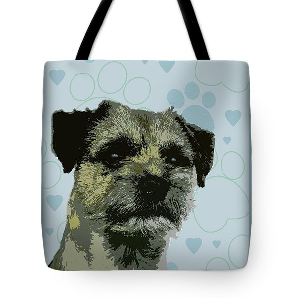 Border Terrier Tote Bag by One Rude Dawg Orcutt