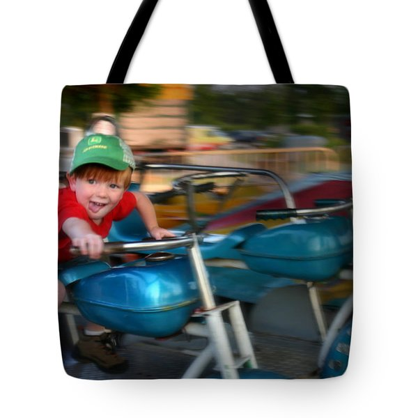 Tote Bag featuring the photograph Born To Ride by Kelly Hazel