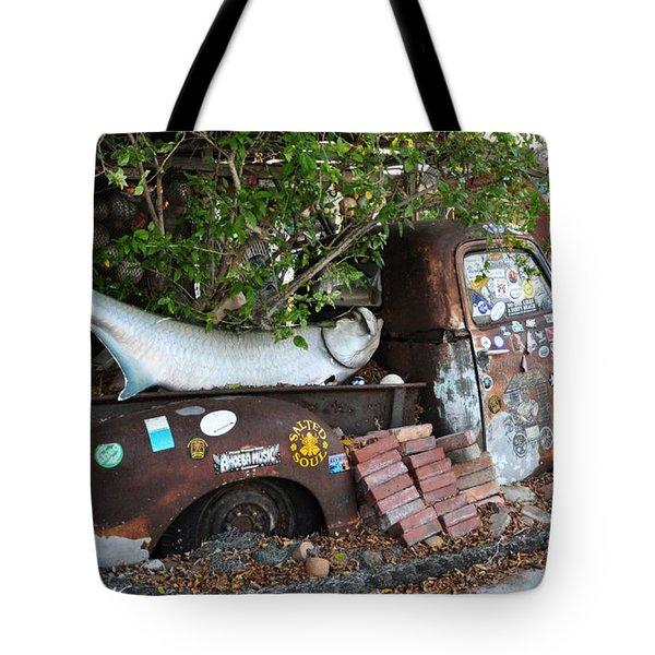 B.o.'s Fish Wagon - Key West Florida Tote Bag by Bill Cannon