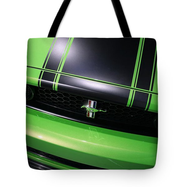 Tote Bag featuring the photograph Boss 302 Ford Mustang by Gordon Dean II