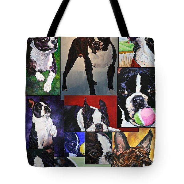 Boston Acrylic Collage Tote Bag by Susan Herber