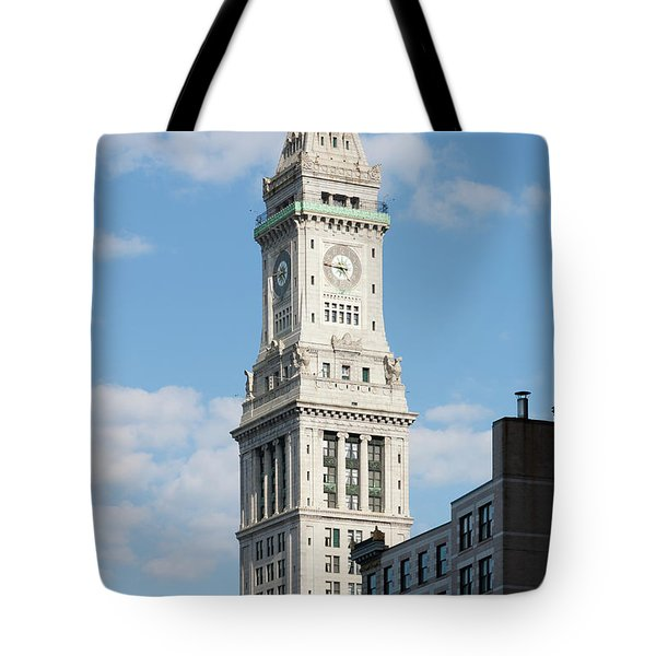 Boston Custom House Tower Tote Bag by Clarence Holmes