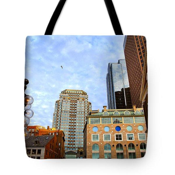 Boston Downtown Tote Bag by Elena Elisseeva