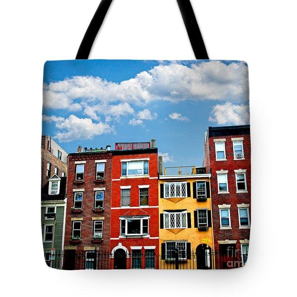Boston Houses Tote Bag by Elena Elisseeva
