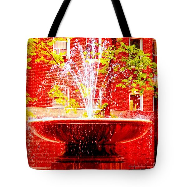 Boston Red Tote Bag by Ann Johndro-Collins